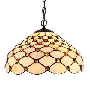 12inch European Pastoral Retro Style Pendant Light Mesh Pattern Glass Shade Bedroom Living Room Dining Room Kitchen Lights