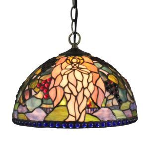12inch European Pastoral Retro Style Pendant Light Angel Pattern Glass Shade Bedroom Living Room Dining Room Kitchen Lights
