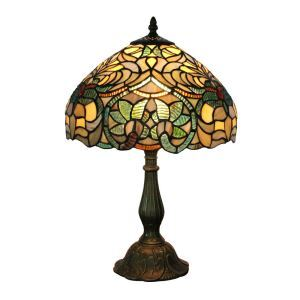 12inch European Pastoral Retro Style Table Lamp Plants Pattern Shade Bedroom Living Room Dining Room Lights
