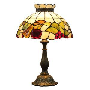12inch European Pastoral Retro Style Table Lamp Fruit Pattern Shade Bedroom Living Room Dining Room Lights
