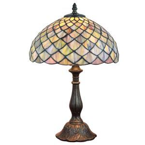 12inch European Pastoral Retro Style Table Lamp Colorful Mesh Pattern Shade Bedroom Living Room Dining Room Lights