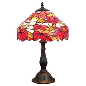 12inch European Pastoral Retro Style Table Lamp Maple Leaf Pattern Shade Bedroom Living Room Dining Room Lights