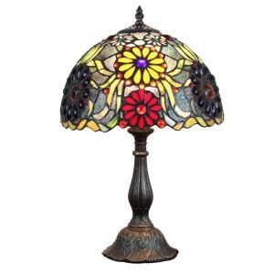 12inch European Pastoral Retro Style Table Lamp Bana Pattern Shade Bedroom Living Room Dining Room Lights