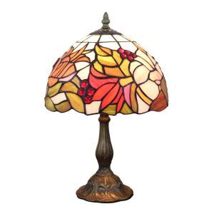 12inch European Pastoral Retro Style Table Lamp Colorful Flower Pattern Shade Bedroom Living Room Dining Room Lights