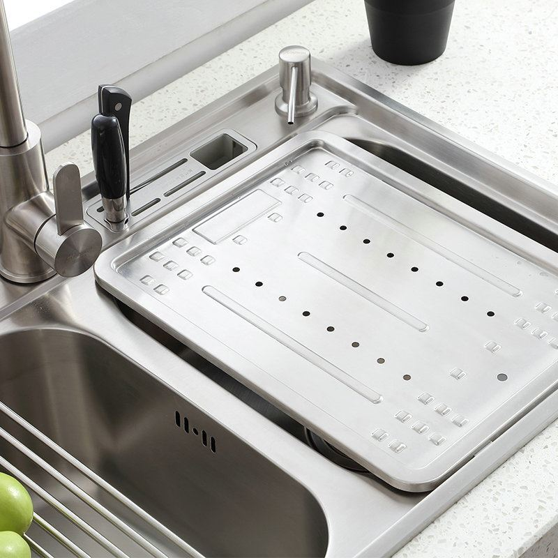 Modern Simple 304 Stainless Steel Sink Double Bowl Kitchen