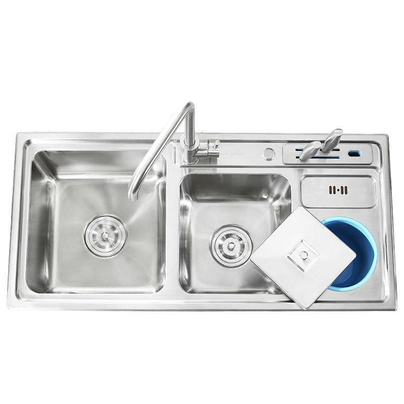 modern kitchen sink simple 304 stainless steel sink multifunctional luxury 3 bowls kitchen washing sink with     modern kitchen sink simple 304 stainless steel sink      rh   homelava com