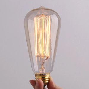 (In Stock) 3 Pcs 40W E27 Retro/Vintage Edison Light Bulb ST64 Halogen Bulbs