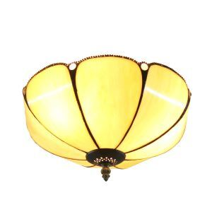 12inch European Pastoral Retro Style Flush Mounts Umbrella Shaped Shade Bedroom Living Room Dining Room Lights