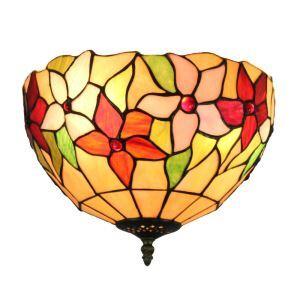12inch European Pastoral Retro Style Flush Mounts Colorful Little Flower Pattern Shade Bedroom Living Room Dining Room Lights