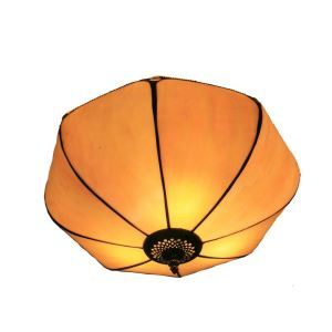 12inch European Pastoral Retro Style Flush Mounts Umbrella Shaded Shade Bedroom Living Room Dining Room Lights