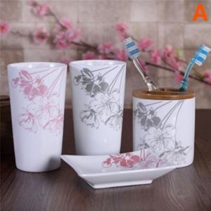 Fashionable Sakura Creative Ceramic Bath Ensembles 4-piece 5-piece Bathroom Accessories