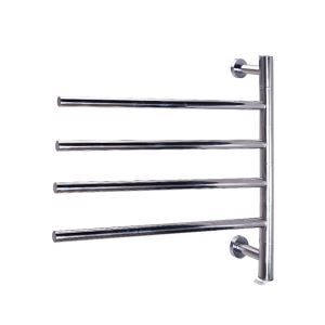 Swivel Towel Warmer 40W Swing Arm Wall Mount Circular Tube  Drying Rack