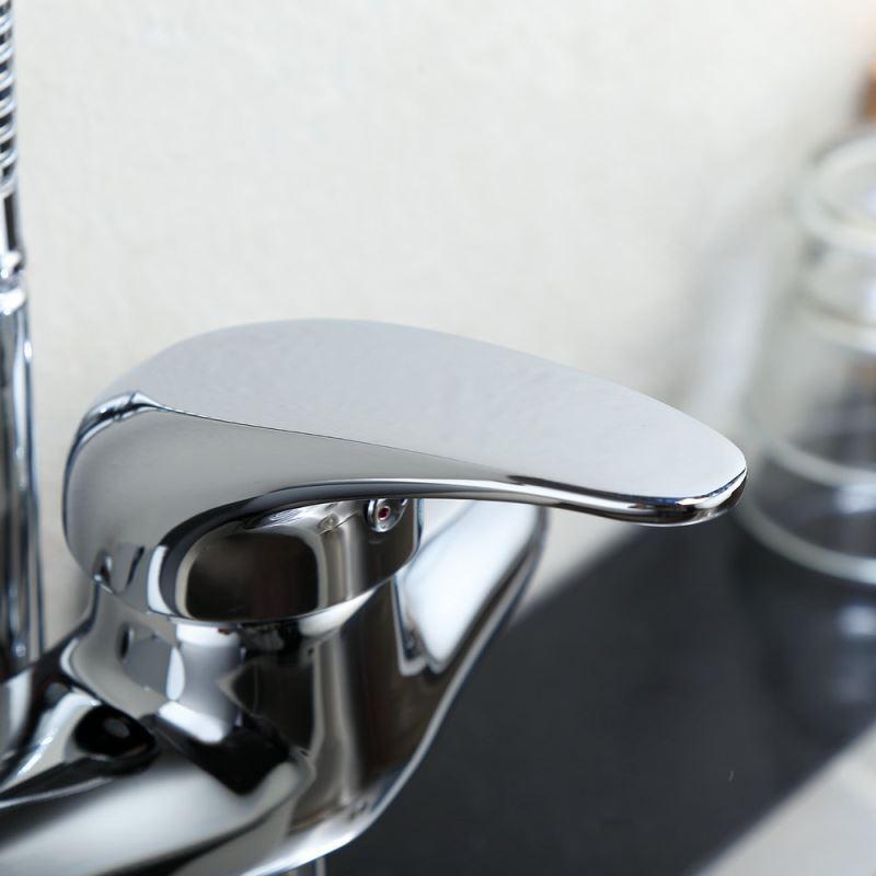 Wall Mount Kitchen Faucet pot filler double handle wall mounted kitchen faucet Chrome Finish Single Handle Color Changing Led Wall Mount Kitchen Faucet Img_6