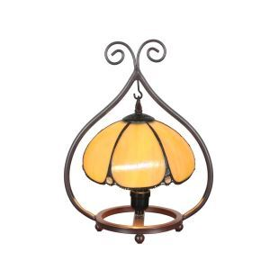 European Pastoral Retro Style Table Lamp Metal Frame Light Yellow Bedroom Living Room Dining Room Lights 8inch Lampshade