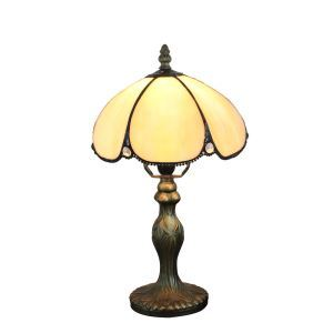 European Pastoral Retro Style Table Lamp Resin Base Light Yellow Bedroom Living Room Dining Room Lights 8inch Lampshade