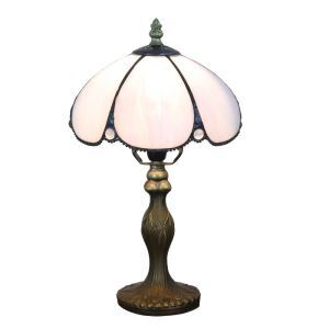 European Pastoral Retro Style Table Lamp Resin Base Light Purple Bedroom Living Room Dining Room Lights 8inch Lampshade