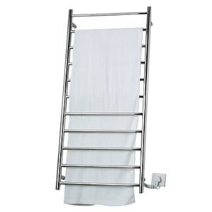 100W Stainless Steel Wall Mount Circular Tube Towel warmer Drying Rack