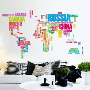 Black/Colorful English Letters PVC Plane Wall Stickers