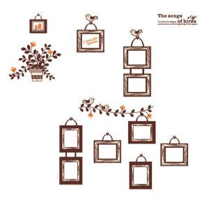 The Songs of Birds Photo Wall PVC Plane Wall Stickers