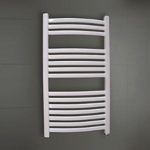 700W Hydronic Low-Carbon Steel White Painting Wall Mount Square Pipe Towel warmer Drying Rack
