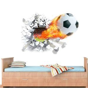 Modern Style Soccer PVC 3D Wall Stickers