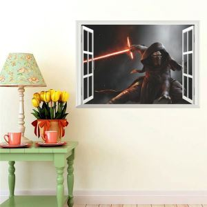 Modern Style Star Wars Soldiers PVC 3D Wall Stickers