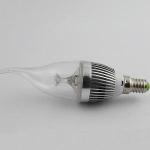 2 Pcs 3W E12/E14 LED Candle Bulb WW/NW 270 LM AC85-265V Silver