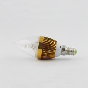 2 Pcs 3W E14 LED Candle Bulb WW/NW 270 LM AC85-265V Golden