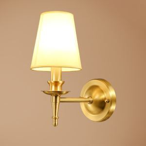 Elegant Wrought Iron Wall Sconce Features White Fabric Shade and Clear Crystal Drop