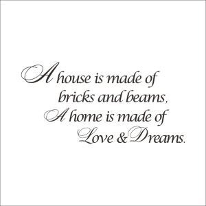 A House Is Made of Dark Brown PVC Plane Wall Stickers