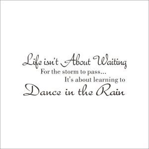 Life Isn't About Waiting English Motto PVC Plane Wall Stickers