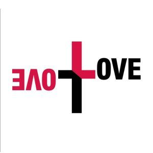 Creative LOVE Icon Black and Pink PVC Plane Wall Stickers