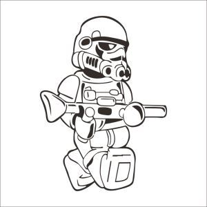STAR WARS CHARACTER Black PVC Plane Wall Stickers