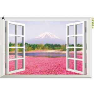 Scenery Outside the Window Colorful PVC 3D Wall Stickers 5 Options