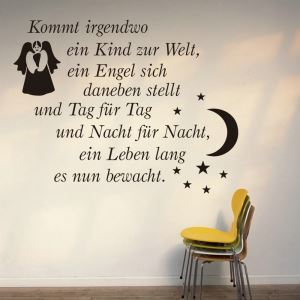 German kommt Stars and Crescent Moon PVC Plane Wall Stickers