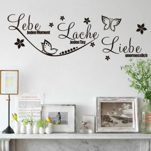 German Lebe jeden moment Butterfly PVC Plane Wall Stickers