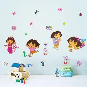 DORA EXPLORER Children Room Bedroom Living Room PVC Plane Wall Stickers