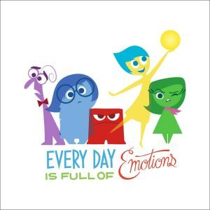 European Cartoon Animation Inside Out Fear Emotion Children Room Bedroom Living Room PVC Plane Wall Stickers