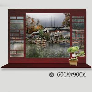 Scenery Outside the Window Bedroom Living Room Entrance Kitchen Cafe PVC 3D Wall Stickers 4 Options