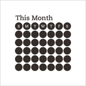 THIS MONTH Monthly Record Blackboard Office Living Room Entrance PVC Plane Wall Stickers