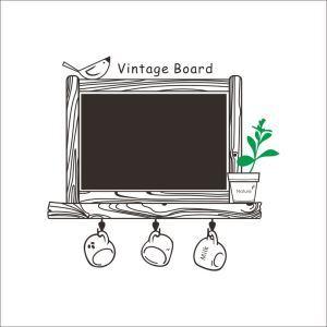 Vintage board Black Message Board Office Living Room Entrance PVC Plane Wall Stickers