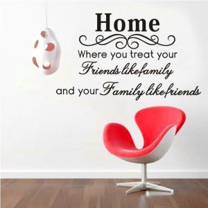 HOME Where You Treat Your Friends Children Room Bedroom Living Dining Room Black PVC Plane Wall Stickers