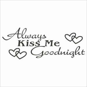 Always Kiss Me Children Room Bedroom Living Dining Room Office Cafe Black PVC Plane Wall Stickers