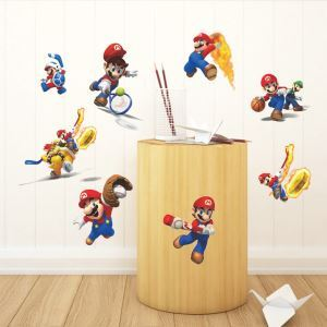 3D Anime Game Character Mario Loves Sport Children Room Bedroom Living Dining Room Entrance PVC Wall Stickers