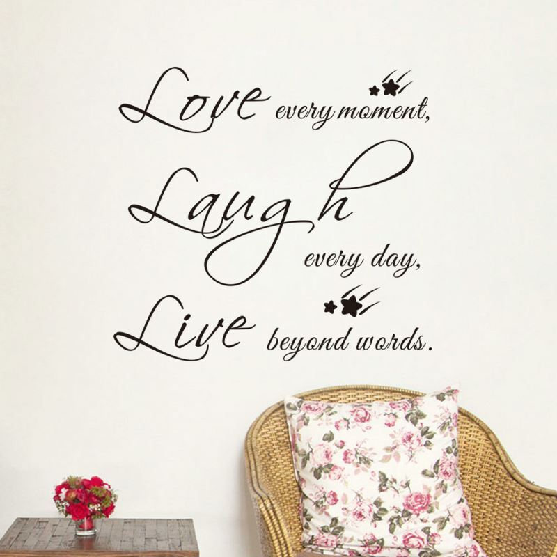 Love Every Moment English Motto Children Room Bedroom