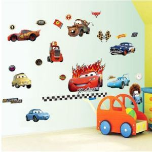 3D Anime The Cars Children Room Bedroom Living Dining Room Entrance PVC Wall Stickers