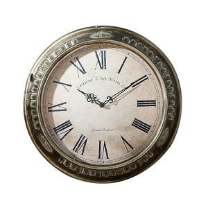 Vintage European Classic Wrought Iron Round Mute Wall Clock