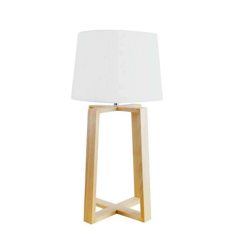 Nordic simple pastoral bedside lamp wood craft four legged for Crafting wooden lamps