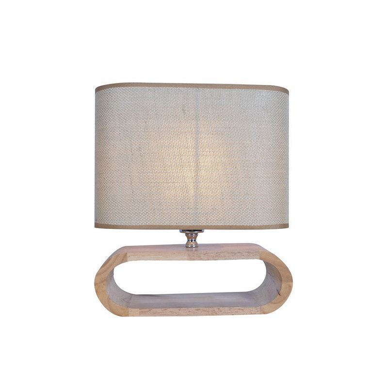 Nordic Simple Pastoral Bedside Lamp Wood Craft Hollow Arch Base ...