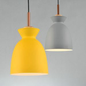 Nordic Simple Pendant Light Creative Dining Room Study Room Bedroom light Single Light Yellow and Grey